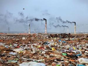 Garbage landscape in Bangladesh