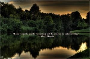 peace quotes - einstein 1