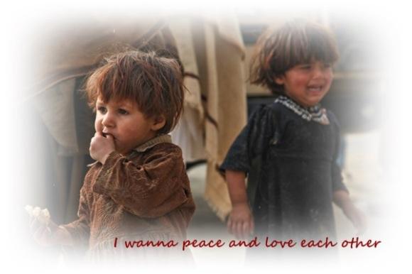 nonviolence peace, love, children