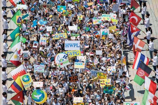 由世界女性和平组织IWPG和世界青年和平组织IPYG成为HWPL双翼的525和平徒步大会 (4)