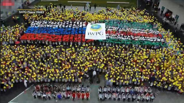 由世界女性和平组织IWPG和世界青年和平组织IPYG成为HWPL双翼的525和平徒步大会 (3)