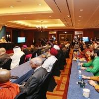 以和平为目的的万国会议2周年和平庆典WARP SUMMIT的记者招待会
