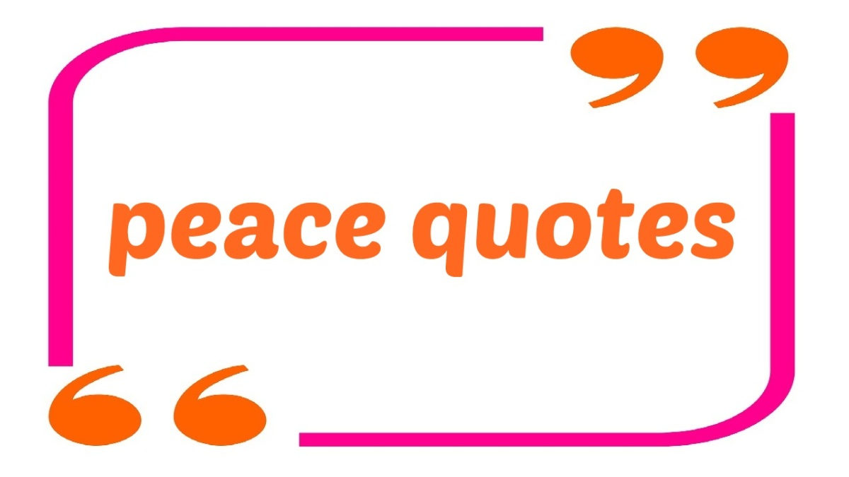 [peace quote] The peace starts with the smile