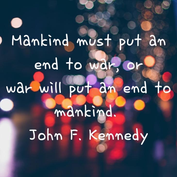 John F Kennedy peacequote